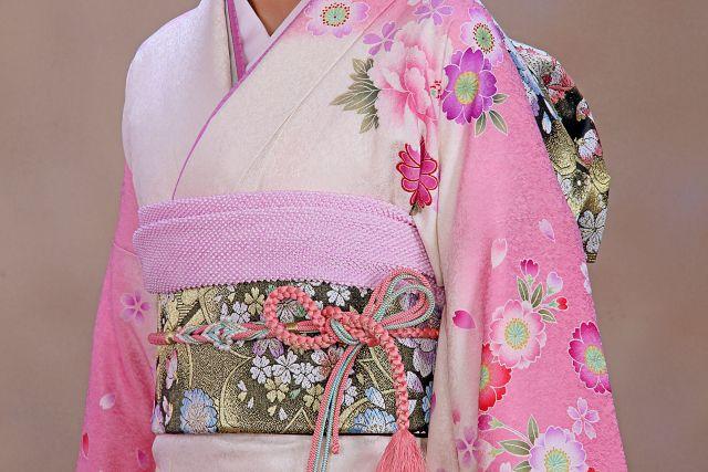 着物、きもの、ピンク