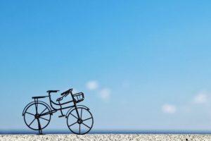自転車、青空、サイクリング