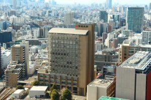 大学、学校、都会のマンション、高層ビル