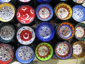 絵皿、お皿、食器、カラフル、鮮やか、可愛い、アジアン、エスニック、雑貨