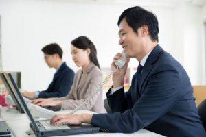 オフィス、仕事、電話、パソコン、ビジネス
