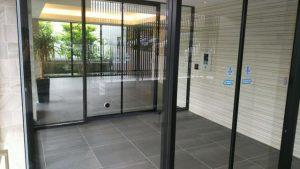 ドア、ガラス、マンション、エントランス、玄関