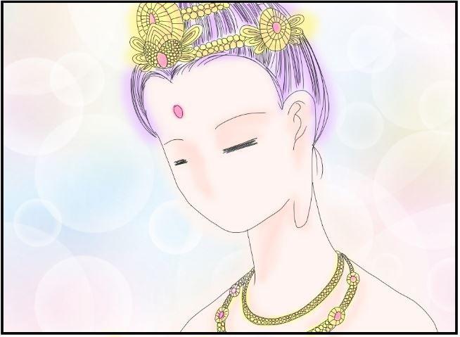 知らぬが仏の女性
