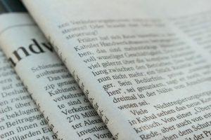 新聞紙、ニュースペーパー