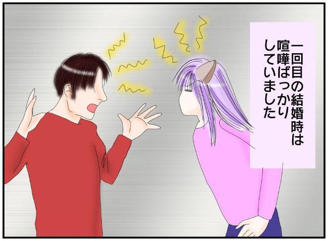 夫婦喧嘩するイラスト