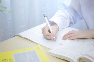 勉強、宿題、試験、ノート、書く、学生