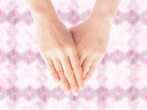 手を揃える、お礼、お辞儀、マナー、礼儀作法