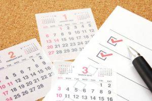 カレンダー、スケジュール、予定、タスク
