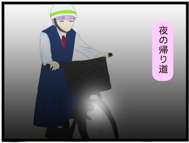 夜道の自転車1