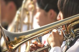 ブラスバンド、吹奏楽、楽器、トランペット、演奏、音楽