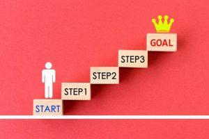 ステップアップ、目標、キャリアアップ、将来の夢、ゴール