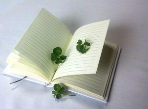 四葉のクローバー、グリーンノート、自然、素直、正直、癒し