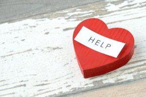 ヘルプ、HELP、助ける、サポート、ハート